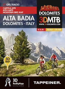 Cartina MTB Alta Badia. Cartina topografica 1:30000. Con panoramiche 3D. Ediz. italiana e tedesca - copertina