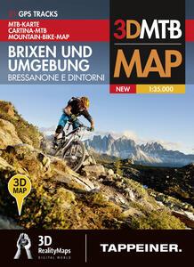 Bressanone e dintorni-Brixen und umgebung. Cartina topografica 1:35000. Con panoramiche 3D. Ediz. bilingue
