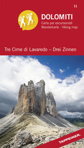 Dolomiti. Tre cime di Lavaredo. Carta panoramica 360° - copertina