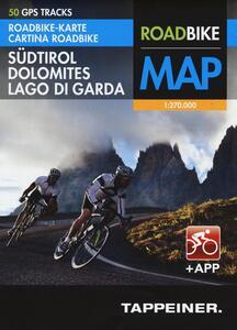 Sudtirol, Dolomites, Lago di Garda. Roadbike map - copertina