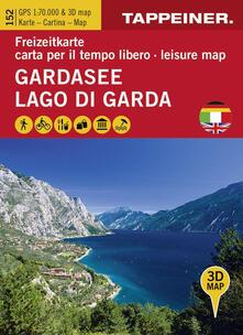 Listadelpopolo.it Koka 152. Lago di Garda. Carta topografica 1:70.000 e panoramica in 3D Image