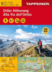 Voluntariadobaleares2014.es 3D-Wanderkarte Ortler-Höhenweg 1:25.000. Ediz. tedesca, italiana e inglese Image