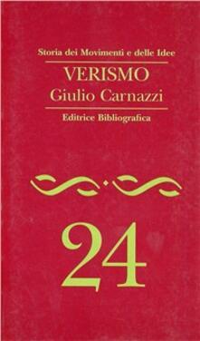 Verismo - Giulio Carnazzi - copertina