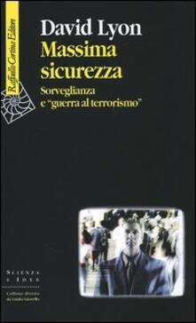 Camfeed.it Massima sicurezza. Sorveglianza e «guerra al terrorismo» Image