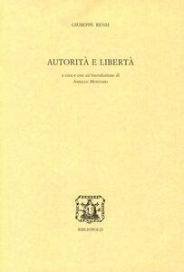 Autorità e libertà