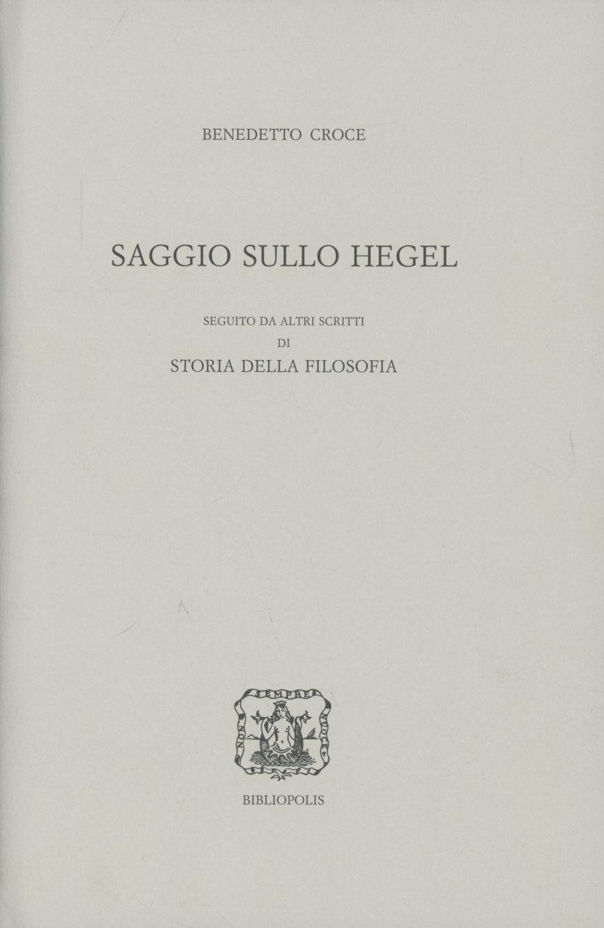 Saggio sullo Hegel