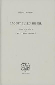Saggio sullo Hegel - Benedetto Croce - copertina