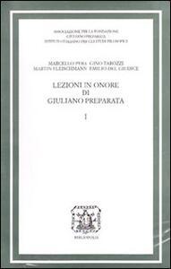 Lezioni in onore di Giuliano Preparata. Vol. 1