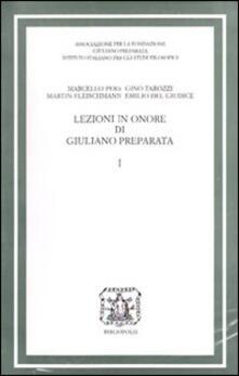 Antondemarirreguera.es Lezioni in onore di Giuliano Preparata. Vol. 1 Image