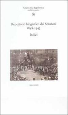 Antondemarirreguera.es Repertorio biografico senatori 1848-1943. Indici Image