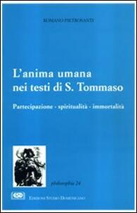 L' anima umana nei testi di s. Tommaso