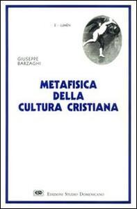 Metafisica della cultura cristiana