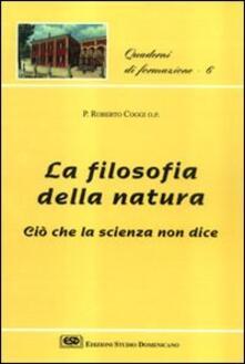 Filosofia della natura. Ciò che la scienza non dice