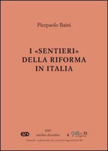 I sentieri della riforma in Italia