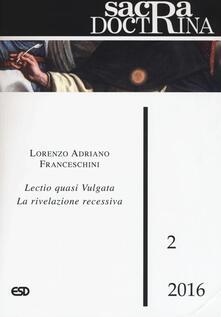 Voluntariadobaleares2014.es Sacra doctrina (2016). Vol. 2: Lectio quasi vulgata. La rivelazione recessiva. Image