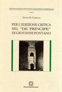 Per l'edizione critica del «De principe» di Giovanni Pontano