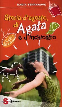 Storia d'agosto, di Agata e d'inchiostro - Nadia Terranova - copertina