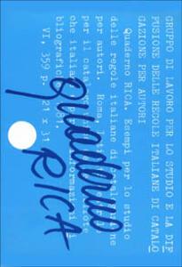Quaderno RICA. Esempi per lo studio delle Regole Italiane di Catalogazione per Autori