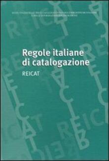Radiospeed.it Regole italiane di catalogazione. REICAT Image