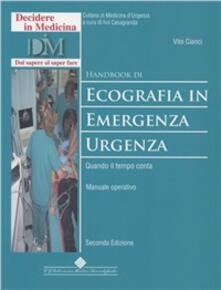 Camfeed.it Handbook di ecografia in emergenza-urgenza. Quando il tempo conta. Manuale operativo Image