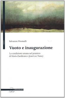 Ristorantezintonio.it Vuoto e inaugurazione. La condizione umana nel pensiero di Maria Zambrano e Jean-Luc Nancy Image