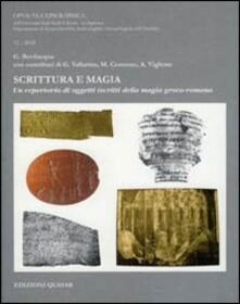 Writersfactory.it Scrittura e magia. Un repertorio di oggetti iscritti della magia greco-romana Image