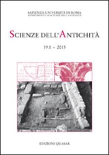 Ristorantezintonio.it Scienze dell'antichità. Storia, archeologia, antropologia (2013). Ediz. italiana e inglese. Vol. 19\1 Image