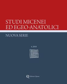 Radiospeed.it Studi micenei ed egeo-anatolici. Nuova serie (2018). Vol. 4 Image