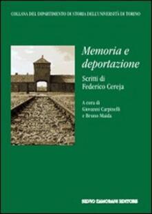 Memoria e deportazione - Federico Cereja - copertina