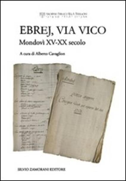 Ebrej, via Vico. Mondovì XV-XX secolo - copertina