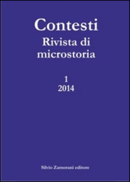 Contesti. Rivista di microstoria (2014). Vol. 1 - copertina