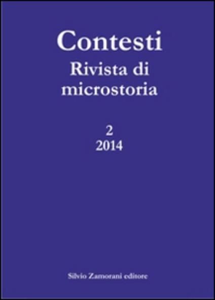 Contesti. Rivista di microstoria (2014). Vol. 2 - copertina