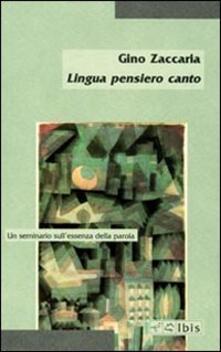 Listadelpopolo.it Lingua pensiero canto. Un seminario sull'essenza della parola Image