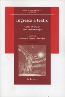 Festivalpatudocanario.es Ingresso a teatro. Guida all'analisi della drammaturgia Image