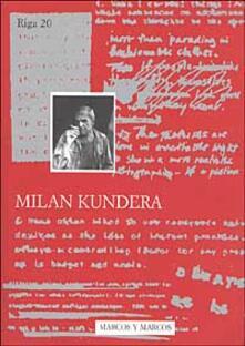 Milan Kundera - copertina