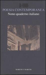 Libro Nono quaderno italiano di poesia contemporanea
