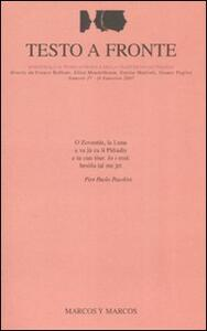Testo a fronte. Vol. 37