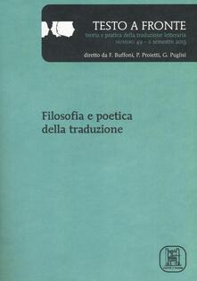Filippodegasperi.it Testo a fronte. Vol. 49 Image