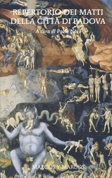 Promoartpalermo.it Repertorio dei matti della città di Padova Image