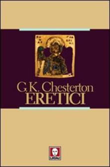 Eretici - Gilbert K. Chesterton - copertina