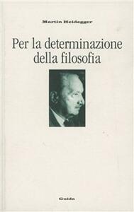 Per la determinazione della filosofia