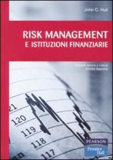 Radiospeed.it Risk management e istituzioni finanziarie. Con CD-ROM Image
