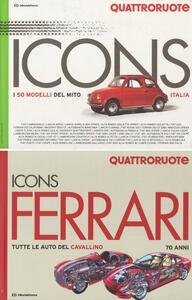 Icons Ferrari: Tutte le auto del cavallino. 70 anni-I 50 modelli del mito Quattroruote