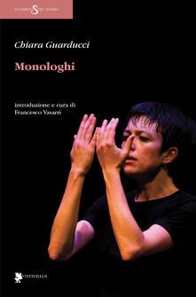 Monologhi - Chiara Guarducci - copertina
