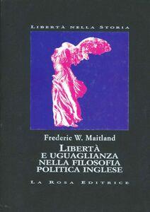 Libertà e uguaglianza nella filosofia politica inglese