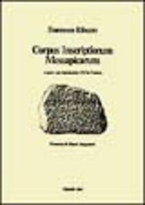 Corpus inscriptionum messapicarum
