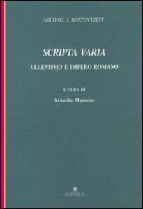 Scripta varia. Ellenismo e impero romano