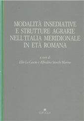 Modalita insediative e strutture agrarie nell'Italia meridionale in eta romana