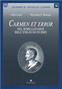 Carmen et error. Nel bimillenario dell'esilio di Ovidio