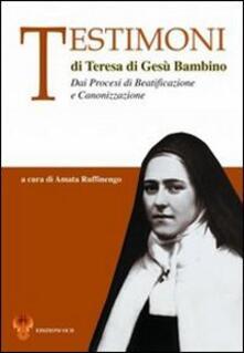 Voluntariadobaleares2014.es Testimoni di Teresa di Gesù Bambino. Dai processi di beatificazione e canonizzazione Image